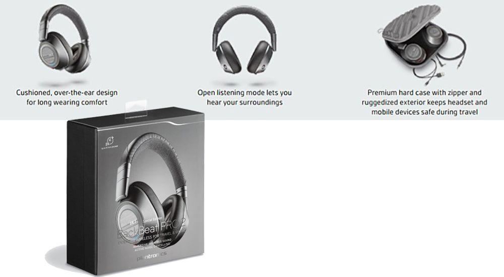 Casque nomade circum-aural Bluetooth® v4.0 classe 1 - PLANTRONICS® BackBeat PRO 2 SE