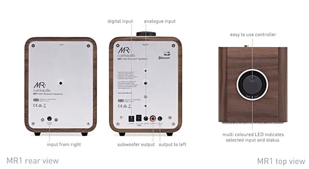 Paire d'enceintes sans fil Bluetooth® avec amplification classe A/B de 20 Watts - RUARK AUDIO MR1 MK2