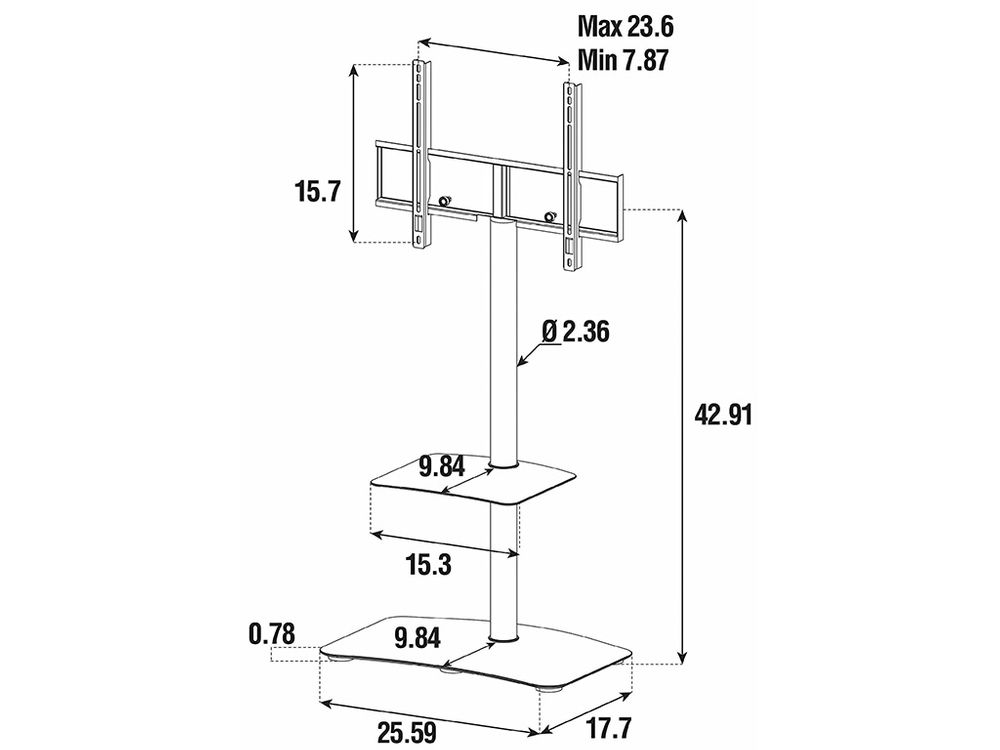 Support Tv Sonorous Pl2810 Blanc Blanc Cobra Fr # Support Tv Avec Etagere