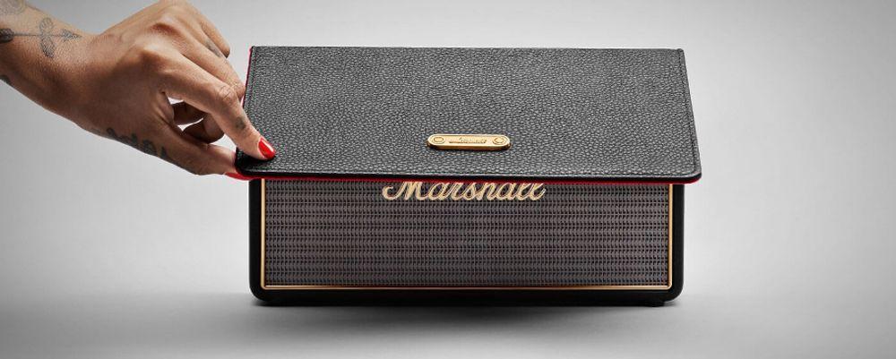 marshall stockwell noir enceintes mp3 sans fil. Black Bedroom Furniture Sets. Home Design Ideas
