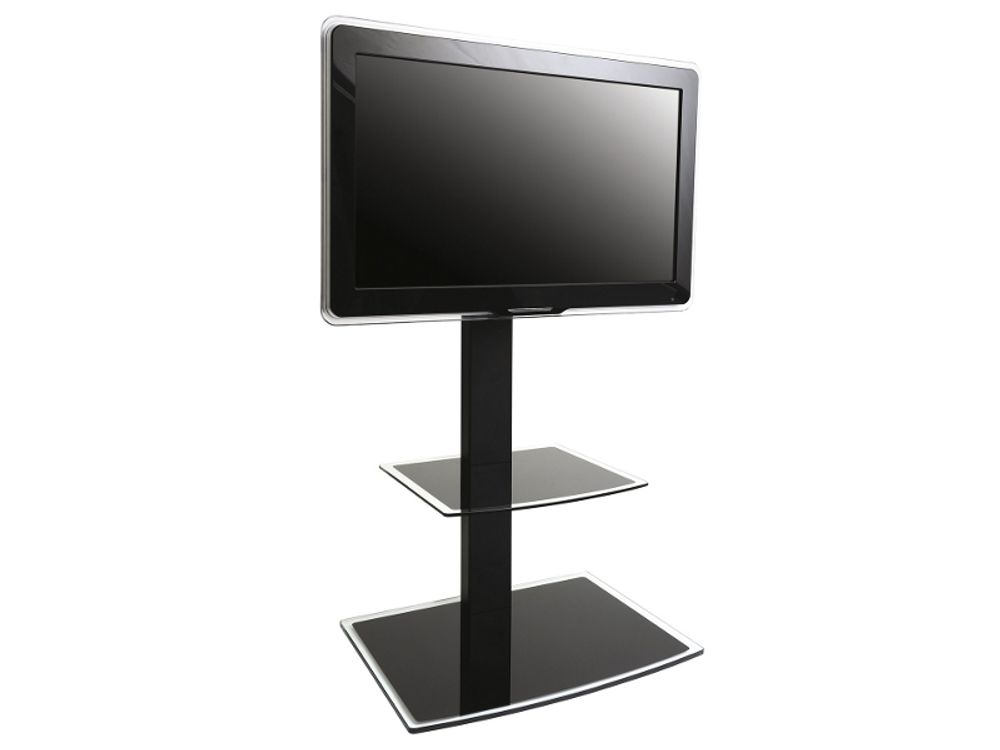 Support tv meuble beautiful etagere murale tv gnial ricoo - Meuble tv support integre ...