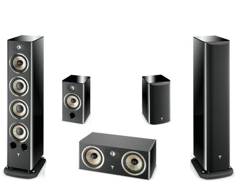 FOCAL Pack 5.0 ARIA 936 + CC900 + 906 Black High Gloss