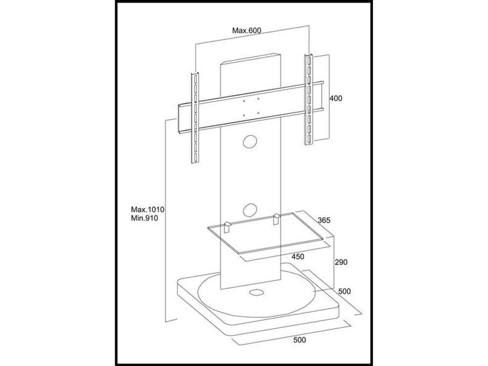 meuble tv gisan fs101 blanc - Meuble Tv Dimension