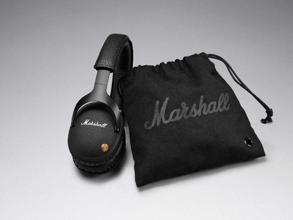 marshall monitor bluetooth noir casques arceau. Black Bedroom Furniture Sets. Home Design Ideas