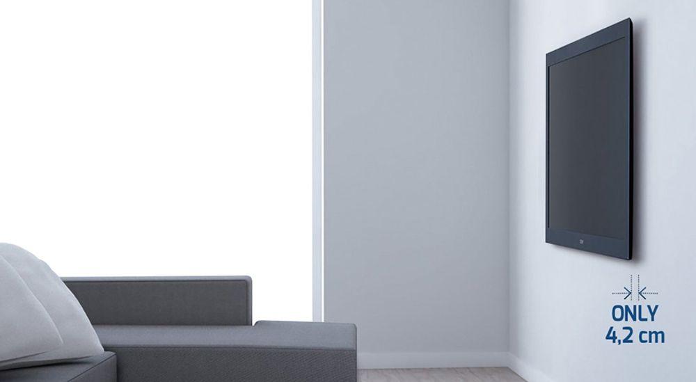 Support mural inclinable et orientable pour écran plat de 40 à 50 pouces jusqu'à 30 kg - MELICONI Slimstyle 400SDR