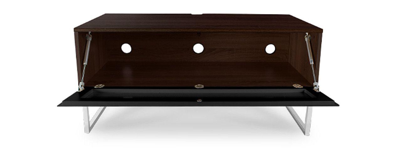 Norstone khalm 100 cm noyer et noir meubles tv - Meuble tv infrarouge ...