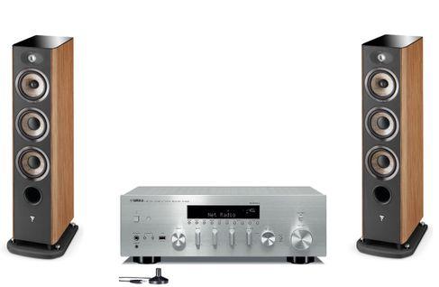 YAMAHA R-N803D Silver + FOCAL ARIA 926 Prime Walnut