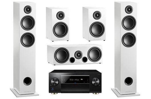 PIONEER SC-LX502 Noir + TRIANGLE Pack ELARA LN05 Blanc