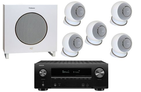DENON AVR-X2500 Noir + CABASSE EOLE 4 Blanc