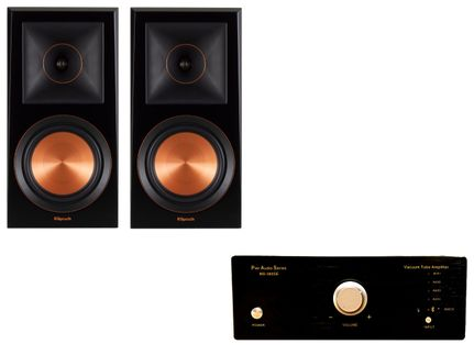 Pier Audio MS-380 Noir + Klipsch RP-600M Ebony