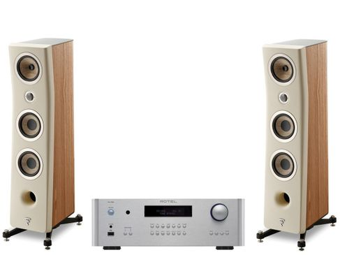 Rotel RA-1592 Silver + Focal Kanta n°2 Walnut / Ivoire