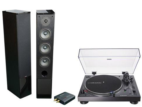 AUDIO TECHNICA AT-LP120X USB Noir + ADVANCE STREAM 150 Noir