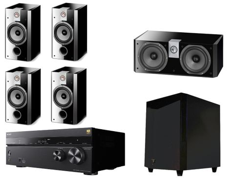 SONY STR-DN1080 + FOCAL Pack 5.1 CHORUS 706 V + CC700 + SW700 Black High Gloss