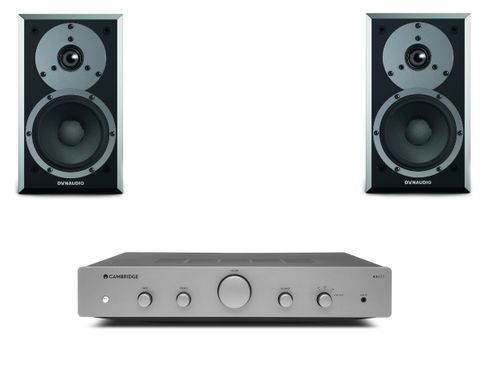 CAMBRIDGE AXA25 + DYNAUDIO EMIT M10 Satin Black