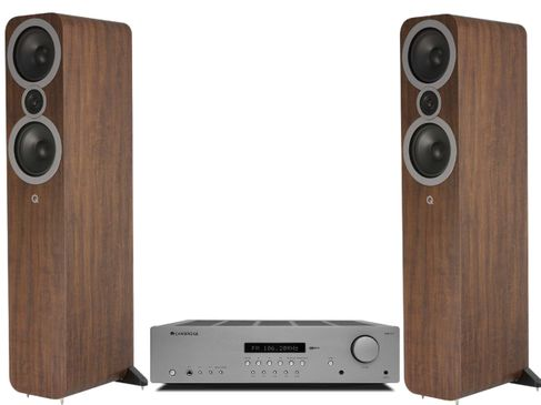 CAMBRIDGE AXR85 + Q ACOUSTICS 3050i English Noyer