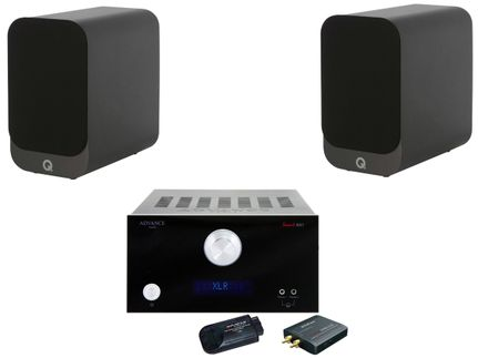 Advance MyConnect AX1 Noir + Q Acoustics 3010i Noir