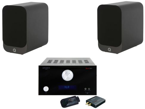 Advance MyConnect AX1 Noir + Q Acoustics 3010i Noir