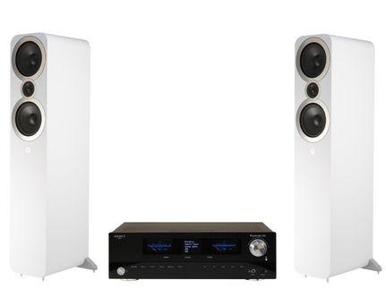 Advance Paris PlayStream A5 + Q Acoustics 3050i Blanc