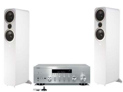 Yamaha R-N803D Silver + Q Acoustics 3050i Blanc