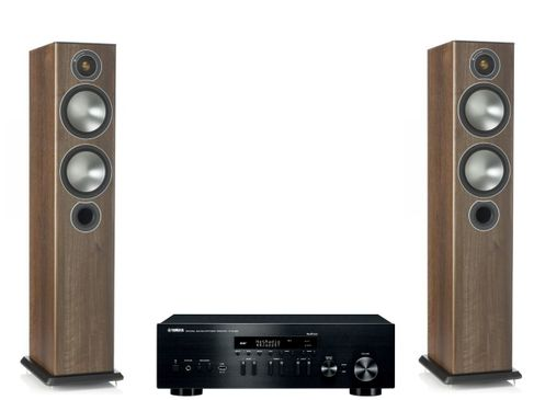Yamaha R-N402D Noir + Monitor Audio Bronze 5 Noyer