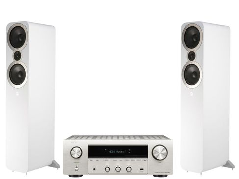 Denon DRA-800H Silver + Q Acoustics 3050i Blanc