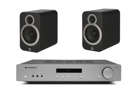 CAMBRIDGE AXA 35 + Q ACOUSTICS 3020 I NOIR MAT