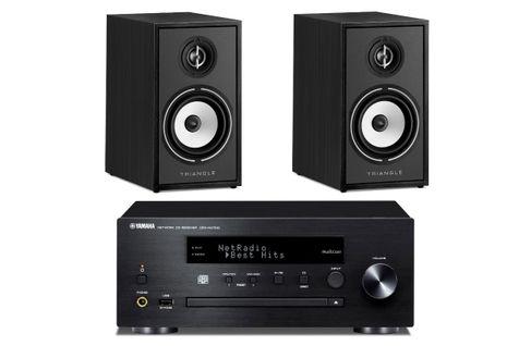 YAMAHA MusicCast CRX-N470D Noir  + TRIANGLE BOREA 02 Noir