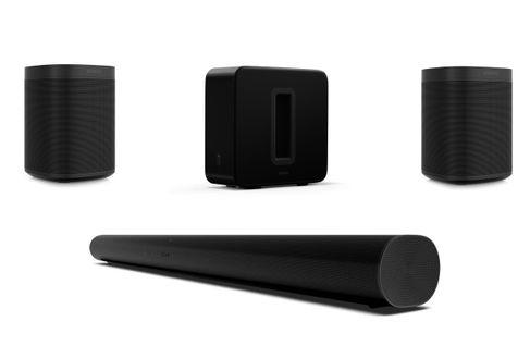 SONOS ARC Noir + 2 x SONOS ONE (Gen 2) Noir + SONOS SUB G3 Noir