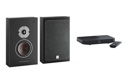 DALI OBERON ON-WALL C Noir x 2 + SOUND HUB COMPACT