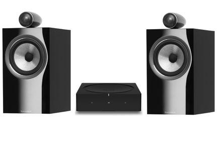 SONOS AMP Noir + Bowers & Wilkins 705 S2 Gloss Black