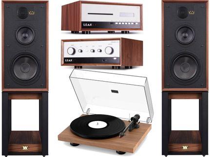 Leak Stereo 130 + CDT + ProJect Debut Carbon Evo + Wharfedale Linton Heritage Walnut