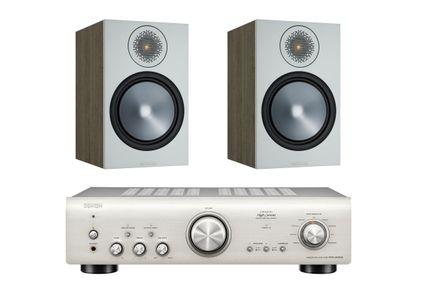 DENON PMA-800NE Silver Premium + MONITOR AUDIO BRONZE 100 Urban Grey