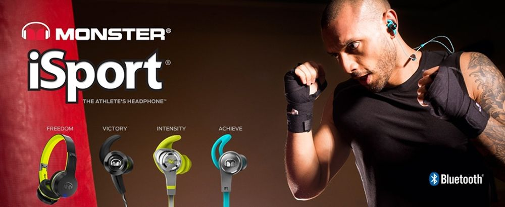 Conception intra-auriculaire sans fil Bluetooth® 4.0 pour le sport - MONSTER iSport® Intensity Bluetooth®