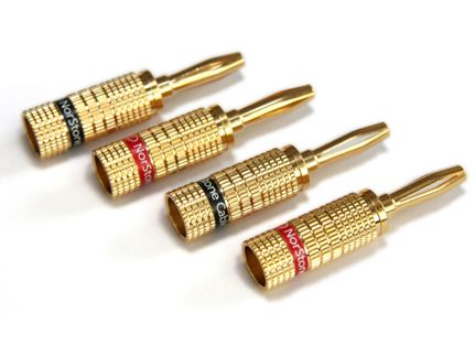 NORSTONE BANANA Plugs (x4) Gold